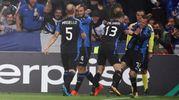 La rete dell'1-0 dell'Atalanta (Ansa)