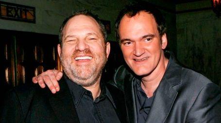 Harvey Weinstein e Quentin Tarantino (Afp)