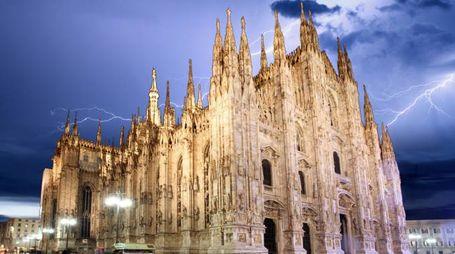 Pioggia a Milano (Archivio)
