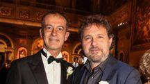 Leonardo Pieraccioni con Simone Martini (Giuseppe Cabras / New Press Photo)