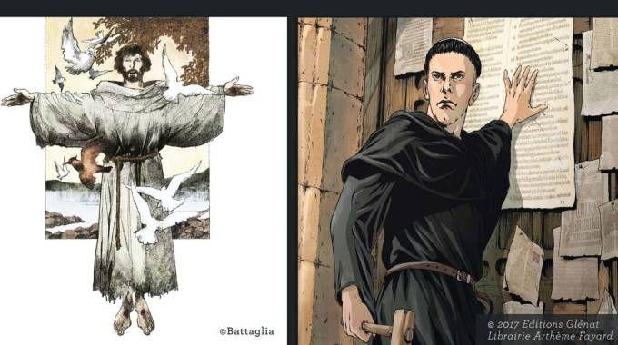 """L'immagine dell'iniziativa """"Francesco e Lutero. La rivoluzione del vangelo"""""""