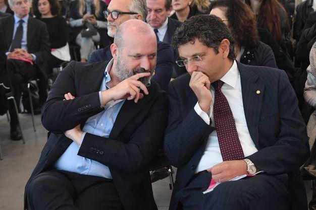 Il governatore Bonaccini e il rettore Ubertini (foto Schicchi)