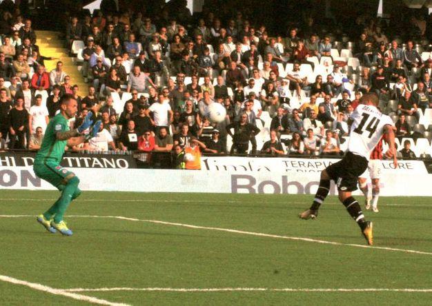 Il gol di Dalmonte (foto Ravaglia)