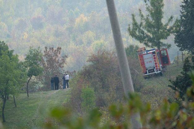 L'intervento dei vigili del fuoco (foto Frasca)