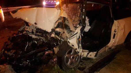 L'auto dopo lo spaventoso incidente