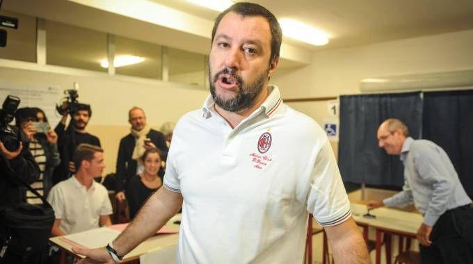 Referendum per l'autonomia, Matteo Salvini al seggio