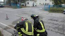 La mattina dopo l'incendio (Foto Scardovi)