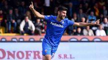 Benevento-Fiorentina, l'esultanza di Benassi (LaPresse)