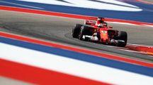 Gp Usa 2017, Ferrari in pista ad Austin (Afp)