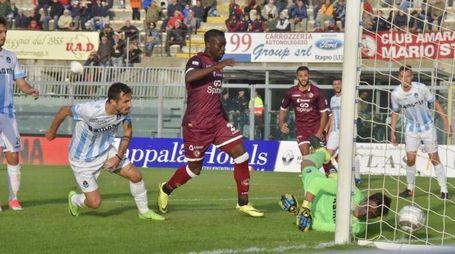 Livorno-Giana Erminio, il gol di Doumbia (Novi)