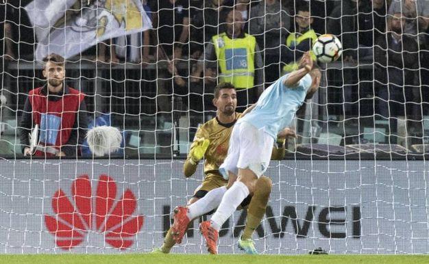 Lazio-Cagliari 2-0, Immobile (Ansa)