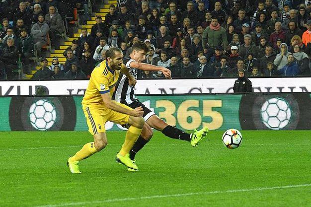 Udinese-Juventus 1-0, Perica (Ansa)