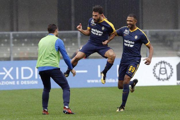 Chievo Verona-Hellas Verona 1-0, Verde (Ansa)