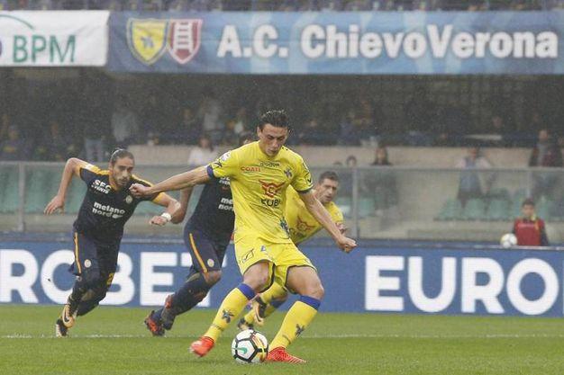 Chievo Verona-Hellas Verona 1-2, Inglese rig. (Ansa)