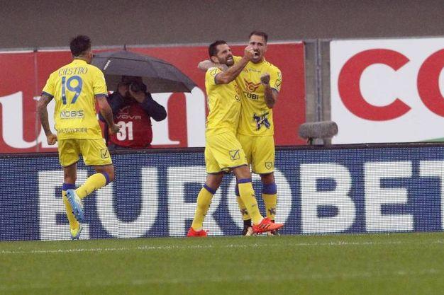 Chievo Verona-Hellas Verona 3-2, Pellissier (Ansa)