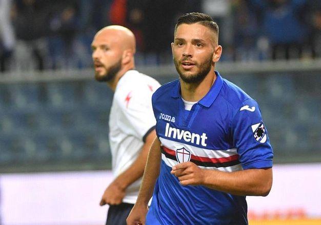 Sampdoria-Crotone 3-0, Caprari (Ansa)