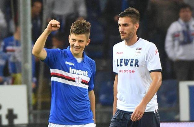 Sampdoria-Crotone 5-0, Kownacki (Ansa)