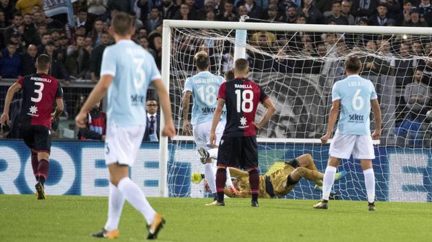Lazio-Cagliari 3-0, Immobile (Ansa)