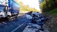 La scena dell'incidente (Fotocronache Germogli)