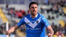 Andrea Caracciolo ha firmato il primo gol del Brescia nella vittoriosa gara con il Bari
