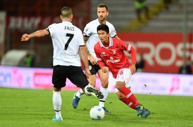 Il match fra Perugia e Cesena (foto Lapresse)
