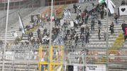 I tifosi del Cesena a Perugia (foto Lapresse)