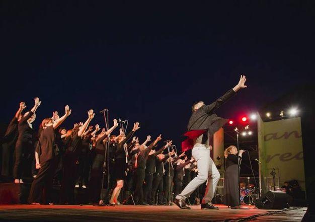 I The Pilgrims Gospel durante un recente concerto