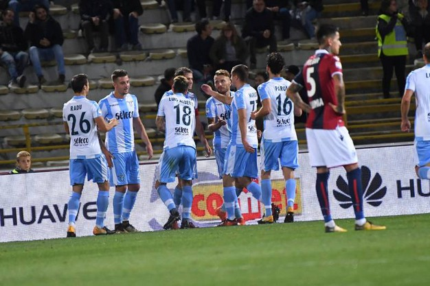 La Lazio in gol (foto Schicchi)