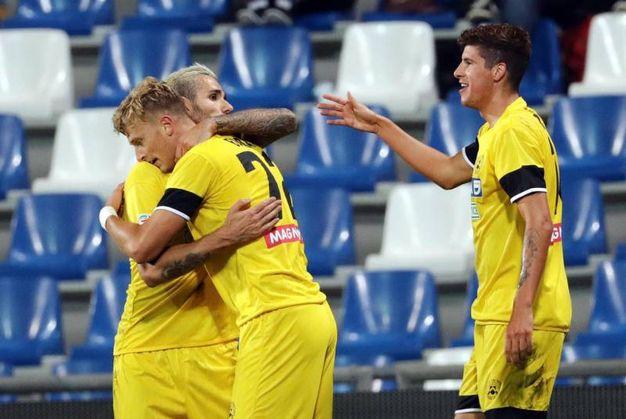 Barak festeggia il gol dell'Udinese (Ansa)