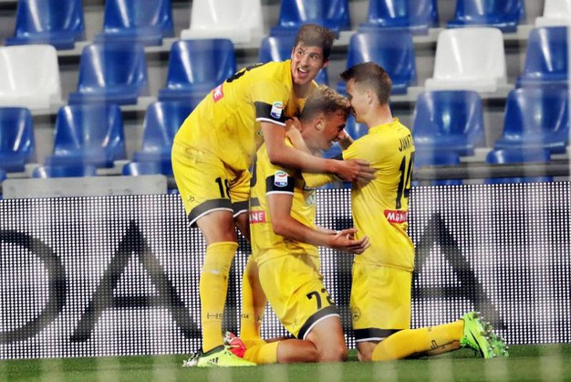 I festeggiamenti dell'Udinese (Ansa)
