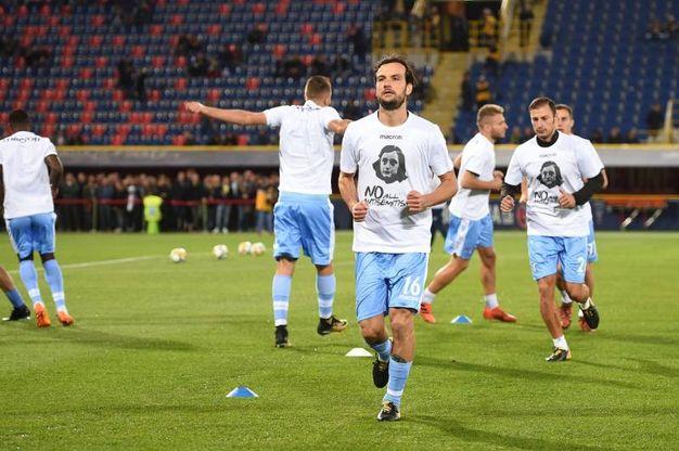 Gli ultras Irriducibili della Lazio hanno però scelto di non venire in trasferta a Bologna (Ansa)