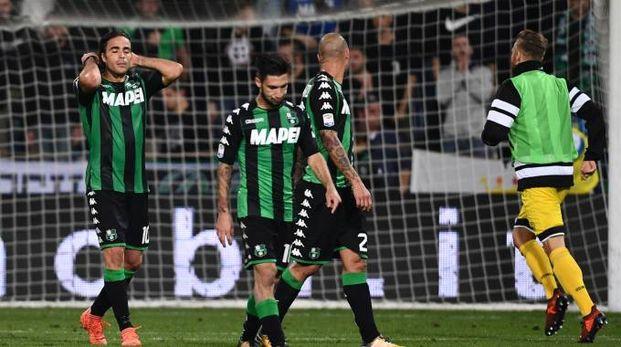 Delusione e fischi per i giocatori del Sassuolo