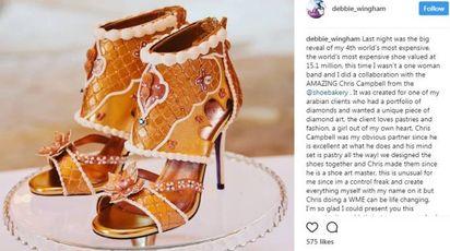 Le scarpe più costose al mondo (Instagram stilista Debbie Wingham)