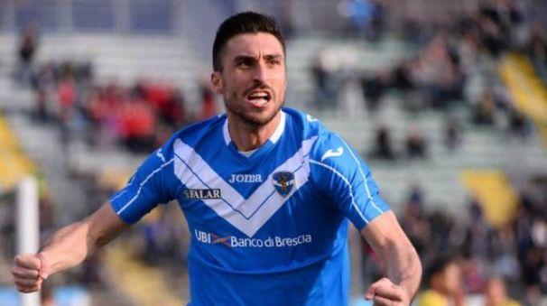 Andrea Caracciolo guiderà l'attacco del Brescia domani in casa del Pescara