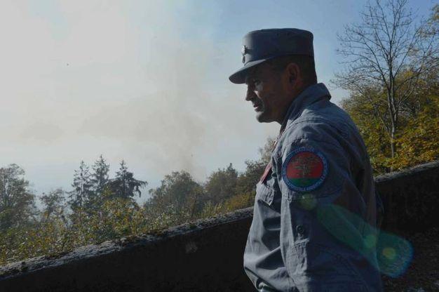 Riaccesi tre focolai: nuovo incendio al Campo dei Fiori