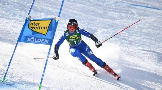 Sofia Goggia in gara a Sölden (Ansa)