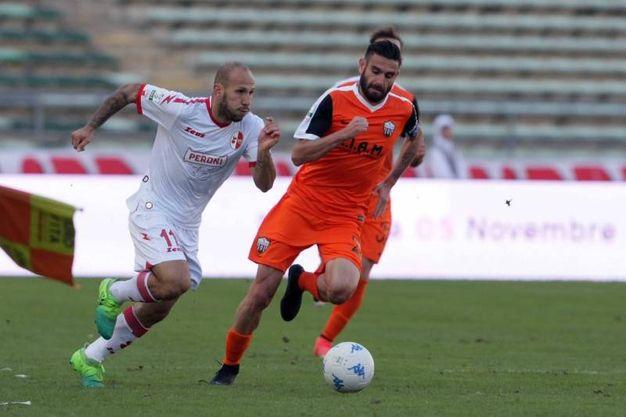 Bari-Ascoli, un momento della partita (foto LaPresse)