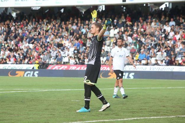 La delusione dei giocatori del Cesena per il pareggio contro il Novara (foto Ravaglia)