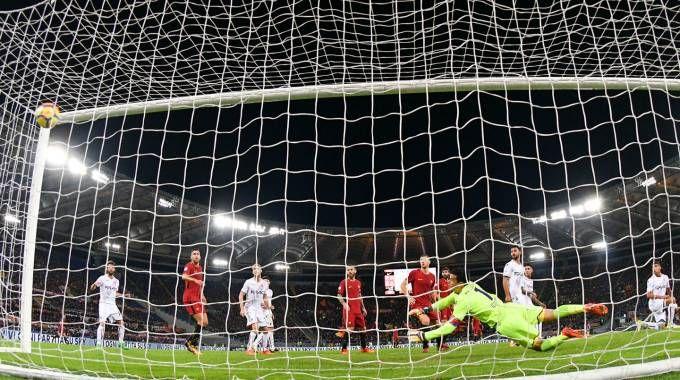 Il gol deciso di El Shaarawy (foto Ansa)