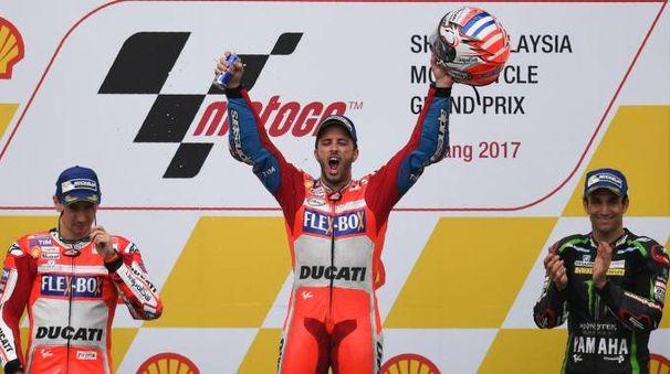 Andrea Dovizioso vince il Gp di Malesia 2017 (Afp)