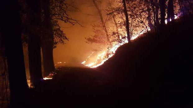 Incendio al Campo dei Fiori