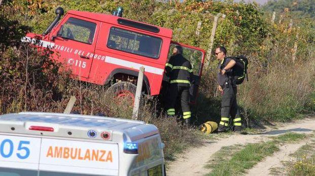 I soccorsi a Montefelcino il 15 ottobre