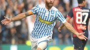 L'esultanza di Antenucci per il gol dell'1-0 contro il Genoa (foto LaPresse)