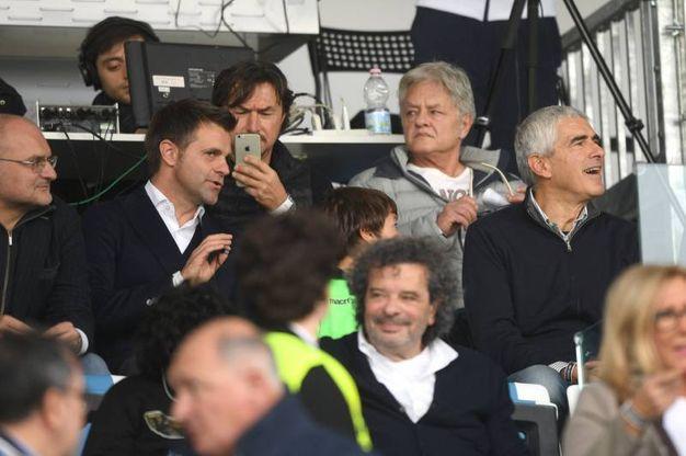 Rizzoli e Casini in tribuna (foto LaPresse)