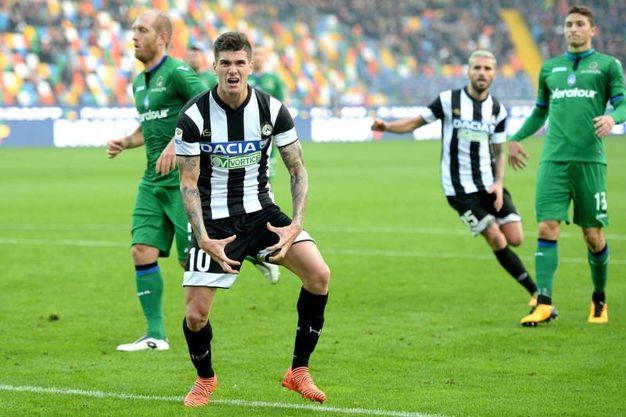 De Paul dell'Udinese esulta per il goll'1-1