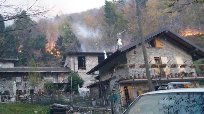Bruciano i boschi del Colmenacco