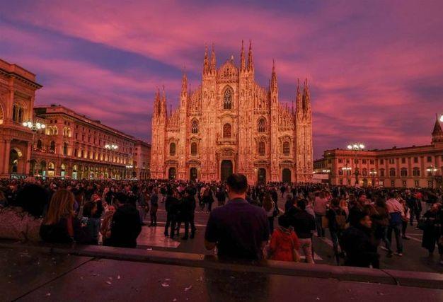 Lo spettacolo del tramonto a Milano