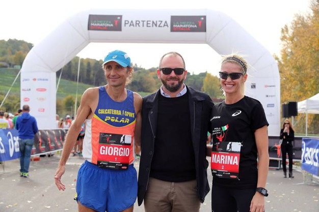 Tronconi con Giorgio Calcaterra e Marina Graziani (foto Isolapress)