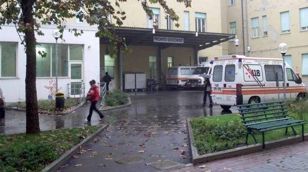L'ospedale di Sassuolo dove la 35enne, di Pavullo, è stata trasportata dall'ambulanza