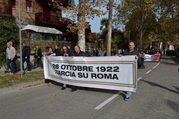 L'anniversario della marcia su Roma a Predappio (foto Frasca)